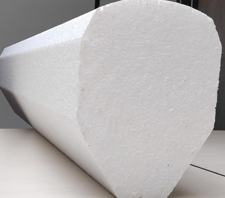 decoupe bloc polystyrene cylindrique