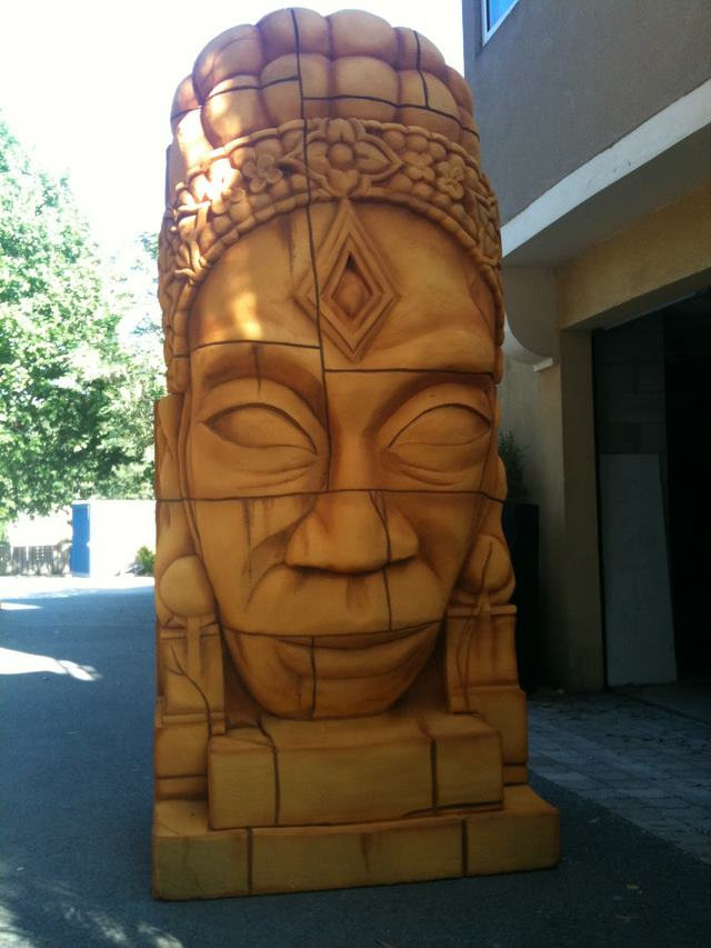 Sculpture polystyrene visage