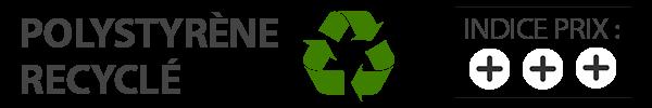 polystyrène recyclé